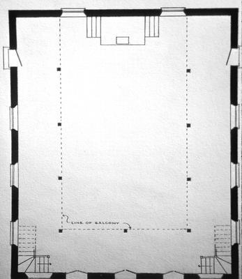M.E. Chapel - Note on slide: Floor plan, Church Street