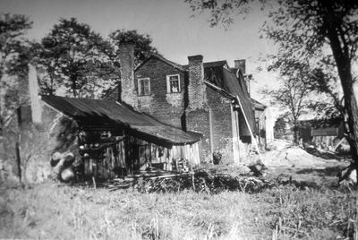 Woodstock building - Note on slide: Exterior view. Todd and Cleveland Roads