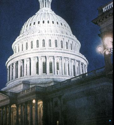 United States Capitol building - Note on slide: Exterior view of dome