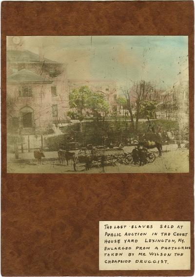 Main Street and third courthouse downtown Lexington, Kentucky; written under photograph