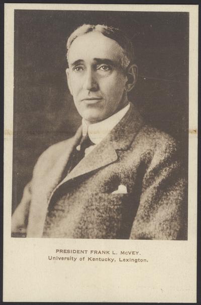 President Frank L. McVey