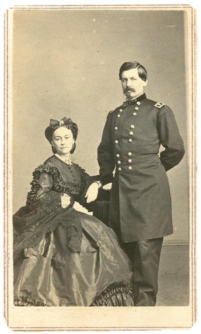 Major General George Brinton McClellan (1826-1885), U.S.A posed with wife, Ellen Marcy McClellan