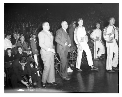 Adolph Rupp, Harry Lancaster, John Stough, and others