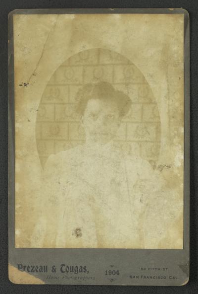 Portrait of an unidentified black woman