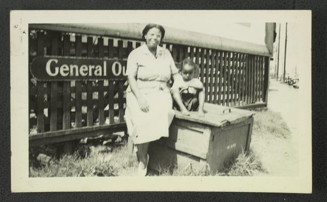 Mary Alice Warren and unidentified child