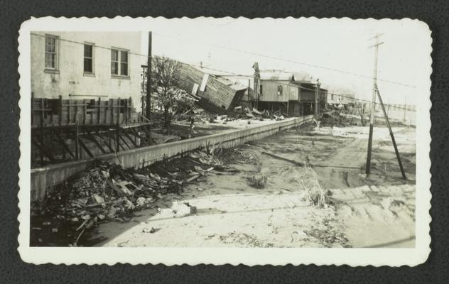 Damage after hurricane in Bay St. Louis, Mississippi