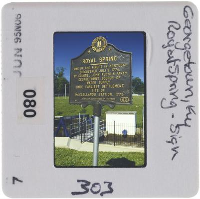 Georgetown, Kentucky Royal Spring - Sign