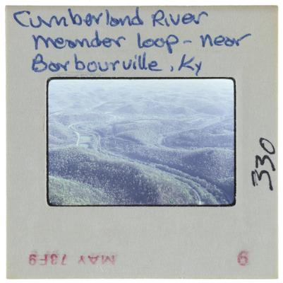 Cumberland River meander loop near Barbourville, Kentucky