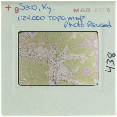 Seco, Kentucky, Topographical Map, Photo revised
