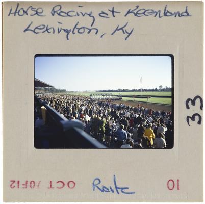 Horse Racing at Keeneland, Lexington, Kentucky