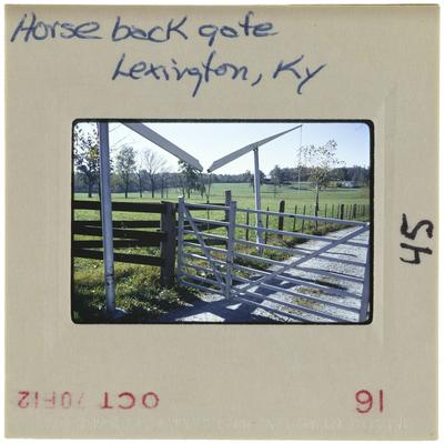 Horse back gate, Lexington, Kentucky
