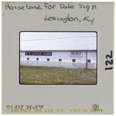 Horse land for sale sign Lexington, Kentucky