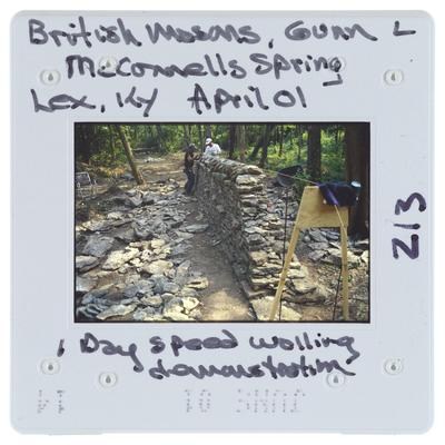 British Masons, Gunn L. - McConnells Spring, Lexington, Kentucky - 1 Day Speed Walling Demonstration