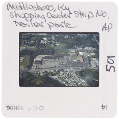 Middlesboro, Kentucky, shopping center strip number AP, trailer park
