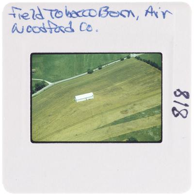 Field tobacco barn, air, Woodford County