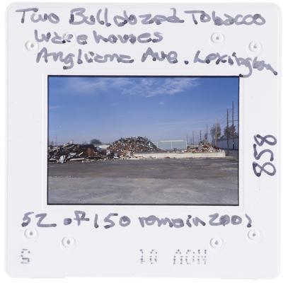 Two bulldozed tobacco warehouses - Angliana Avenue, Lexington (52 of 150 remain as of 2001)