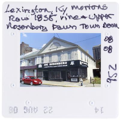 Lexington, Kentucky - Mortons Row 1838, Vine and Upper - Rosenburg Pawn torn down