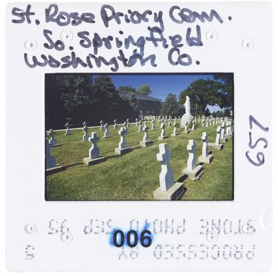 St. Rose Priory Cemetery, South Springfield, Washington County