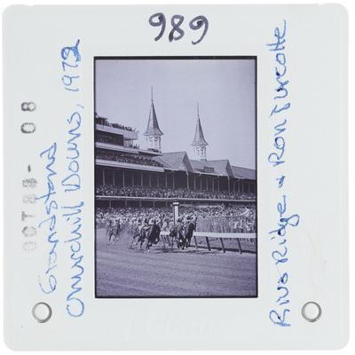 Grandstand Churchill Downs - Riva Ridge and Ron Turcotte