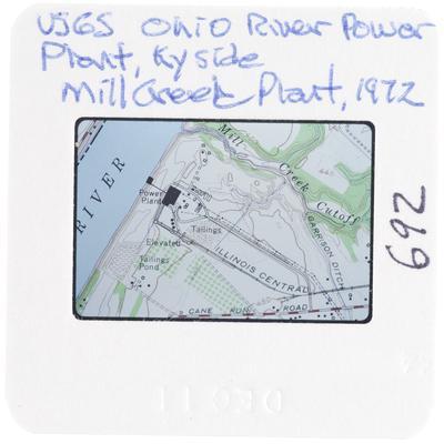 USGS Ohio River Power Plant Kentucky side - Mill Creek Plant
