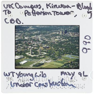 University of Kentucky campus - Kirwan-Blanding to Patterson Tower, CBD - William T. Young Library under construction