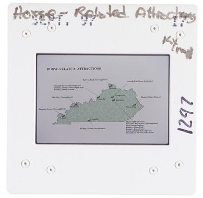 Horse Related Attractions Kentucky Map