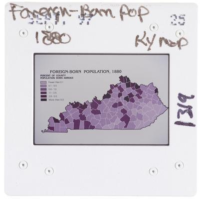 Foreign-born Pop. 1880 Kentucky Map