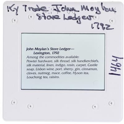 Kentucky Trade John Moylan Store Ledger 1792