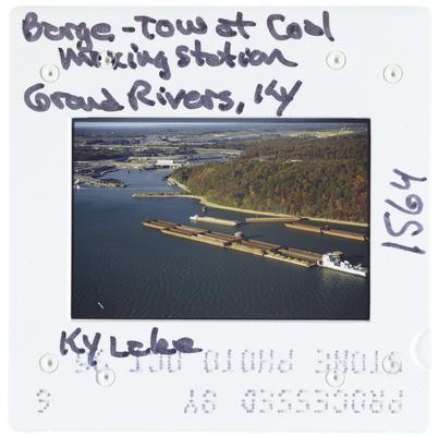 Barge - Tow at Coal Mixing Station - Grand Rivers, Kentucky - Kentucky Lake