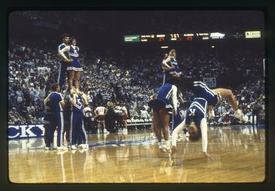 UK vs. Alabama: UK cheerleaders doing stunts