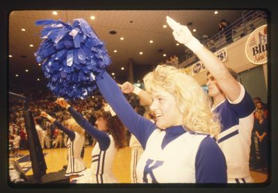UK cheerleaders at Big Blue Madness