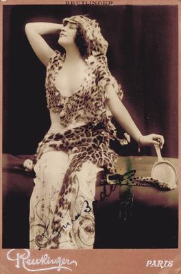 Regina Badet;                          R. Badet-Orphie. noted on back; Photographer: Reutlinger; Paris