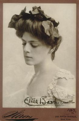 Ethel Barrymore; autographed:                          Ethel Barrymore, 1902 ; Photographer: Sarony; New York