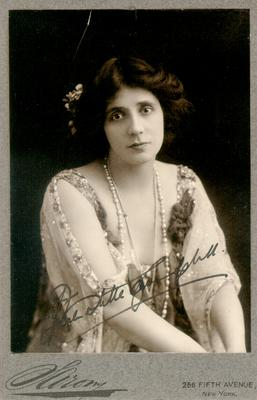 Mrs. Patrick (Stella) Campbell; autographed; Photographer: Sarony; New York