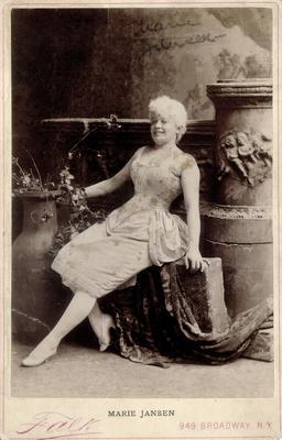 Marie Jansen; Photographer: Falk; New York