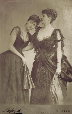 Marchioness of Kildare and an unidentified female; Photographer: Lafayette; Dublin