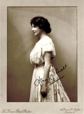 Lena Ashwell, autographed; Photographer: Dover Street Studios; London