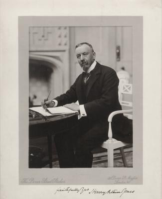 Henry Arthur Jones,                          faithfully yours, Henry Arthur Jones; Photographer: The Dover Street Studios; London