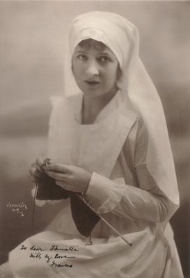 Unidentified female,                          Frances; Photographer: Mishkin; New York