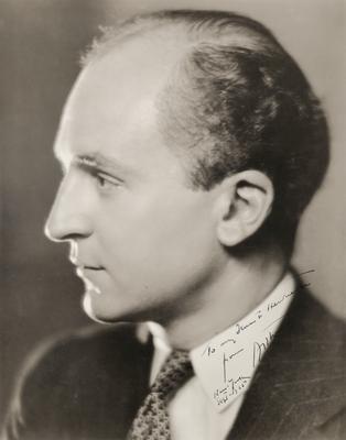 Unidentified male,                          To my dear Henrietta from Arthur, New York, Sept. 1925; Photographer: Muray Studios; New York