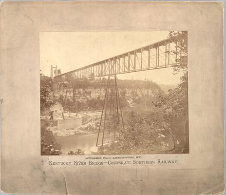 Kentucky River Bridge, Cincinnati Railway; shows completed span
