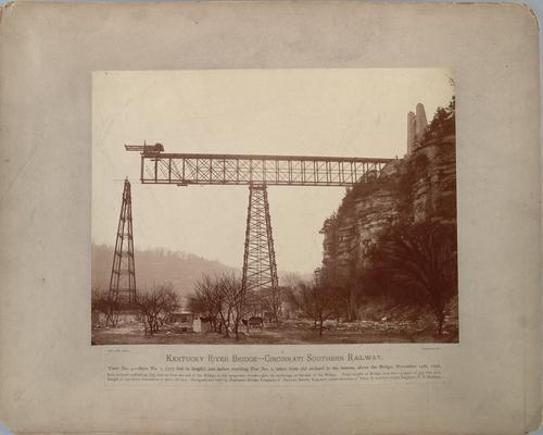 Kentucky River Bridge, Cincinnati Southern Railway; View No 4, shows Span No. 1 (375 ft in length) just before reaching Pier No. 1