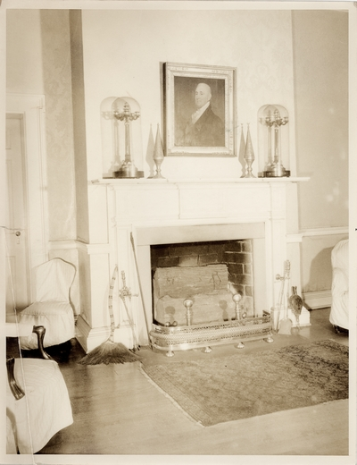 Fireplace on an unidentified house
