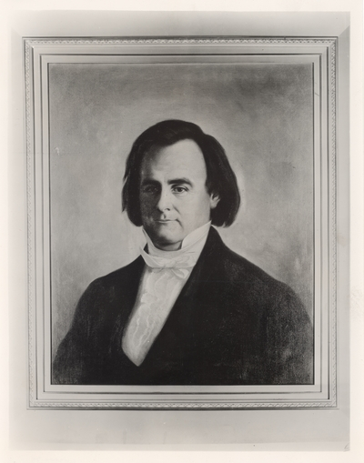 Charles Anderson Wickliffe (1788-1969), Governor of Kentucky, 1839-1940; reproduction of painted portrait