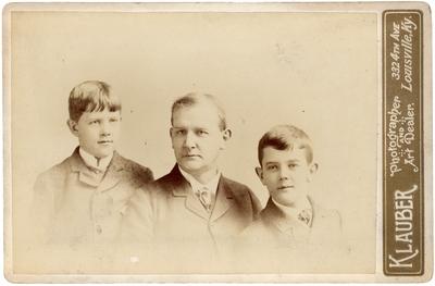 John Mason Brown (1837-1890) with his sons, Preston Brown (1872-1948) and Mason Brown