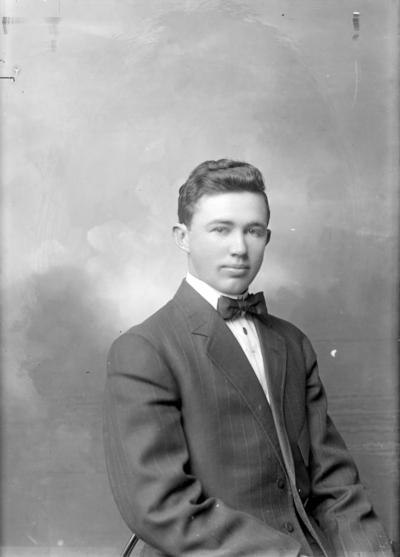Portrait of a man identified as