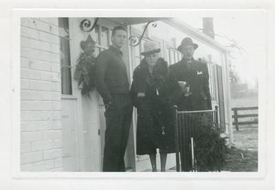 Margaret Wickliffe Preston Johnson (1885-1964), Philip Preston Johnston III (1918-1964), and Robert Wickliffe Preston Johnston (1920-2003)