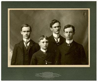 Johnston brothers (left to right): J. Pelham Johnston (1881?-1935), Marius Early Johnston (1880?-1960), Fayette Johnston (1885?-1957), Philip Preston Johnston, Jr. (1877-1937)