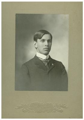 Unidentified man, handwritten on back in pencil