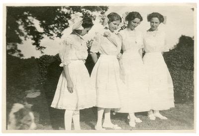 Four unidentified women